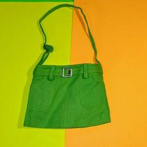 Tiny Green Skirt Purse